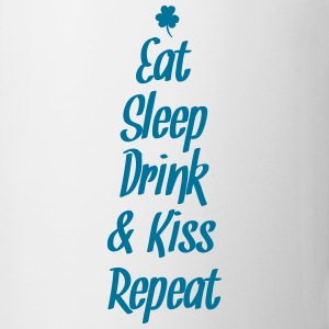 eat sleep drink kiss repeat Mugs & Drinkware - Mug