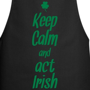 keep calm and act irish Fartuchy - Fartuch kuchenny