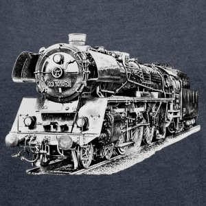 steam locomotive T-shirts - T-shirt med upprullade ärmar dam