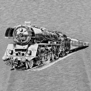 steam locomotive T-shirts - Herre premium T-shirt