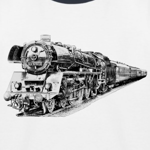 steam locomotive Skjorter - Baseball-T-skjorte for barn