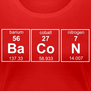 Bacon Periodic Table T-Shirts - Women's Premium T-Shirt