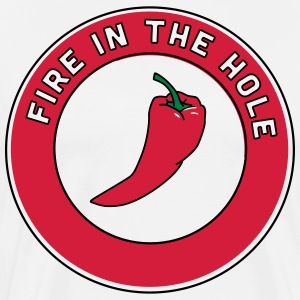 Chili Pepper Fire in the Hole T-Shirts - Men's Premium T-Shirt
