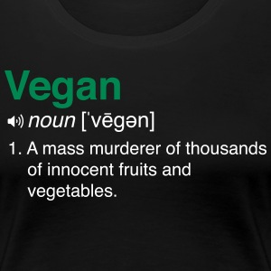 Vegan Definition  T-Shirts - Women's Premium T-Shirt
