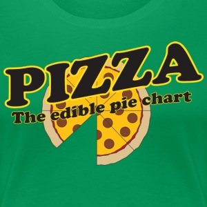 Pizza The Edible Pie Chart T-Shirts - Women's Premium T-Shirt