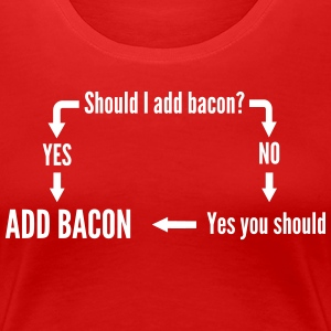 Should I Add Bacon Flowchart T-Shirts - Women's Premium T-Shirt
