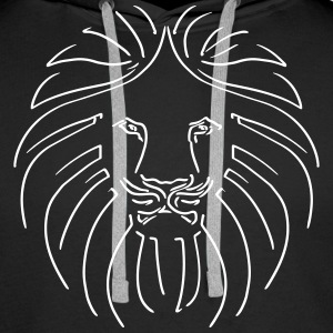 Like a Lion, Reggae King, Rastafari, Music, Rebel Sweaters - Mannen Premium hoodie