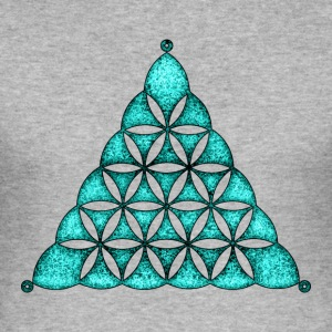 Flower Of Life, Sacred Geometry, Crop Circle,  T-S - Männer Slim Fit T-Shirt