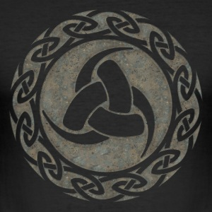 Triple Horn of Odin, Celtic Knot, Odin Symbol T-shirts - Slim Fit T-shirt herr
