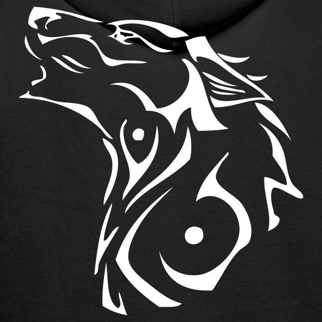 Sweat à capuche Homme avec Loup tribal