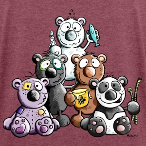 Funny Bears T-Shirts - Women's T-shirt with rolled up sleeves