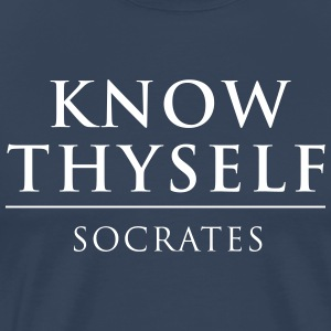 """know thyself philosophy """"know thyself"""" is the dictum which appeared on the front of the temple in delphi but what does that mean and why is it important presumably, it means to know, first and foremost, one's own character and it is important because only by knowing one's character can one be aware of one's ."""
