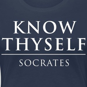 Know Thyself Socrates T-Shirts - Women's Premium T-Shirt