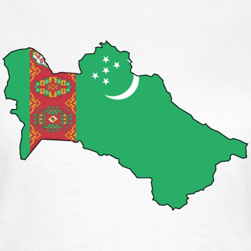 Turkmenistan Flagmap