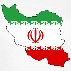 Iran Flagmap - Frauen T-Shirt