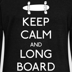 Keep Calm Longboard Hoodies & Sweatshirts - Women's Boat Neck Long Sleeve Top