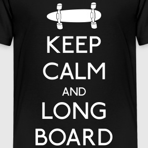 Keep Calm Longboard Shirts - Kids' Premium T-Shirt