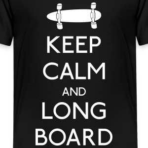 Keep Calm Longboard T-Shirts - Kinder Premium T-Shirt