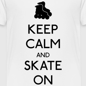 Keep Calm skate on Shirts - Kids' Premium T-Shirt