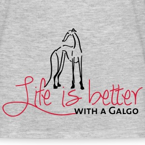 Life is better Galgo T-Shirts - Men's T-Shirt