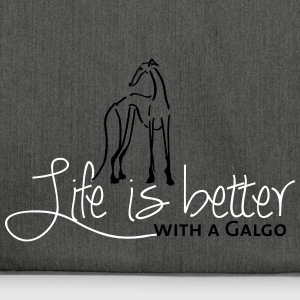 Life is better Galgo Bags & Backpacks - Shoulder Bag made from recycled material