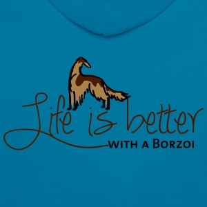 Life is better - Borzoi Hoodies & Sweatshirts - Contrast Colour Hoodie