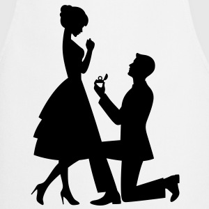 A man makes a marriage proposal  Aprons - Cooking Apron