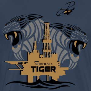 North Sea Tiger Oil Rig North Sea Aberdeen. T-Shirts - Men's Premium T-Shirt