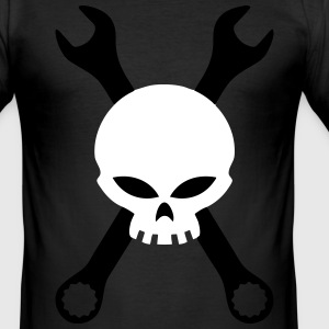 Skull and tools T-Shirts - Men's Slim Fit T-Shirt