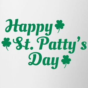 happy st patty's day Bouteilles et Tasses - Tasse bicolore