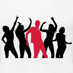Dancing people at a party T-Shirts - Women's Premium T-Shirt