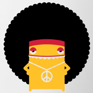A hippie with an afro Mugs & Drinkware - Mug