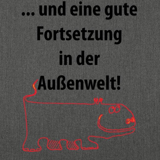 """Schultertasche """"Außenwelt"""""""