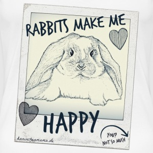 Rabbits make me Happy... T-Shirts - Frauen Premium T-Shirt