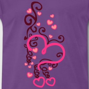 Heart Art T-shirts - Herre premium T-shirt