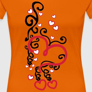 Heart Art T-shirts - Vrouwen Premium T-shirt