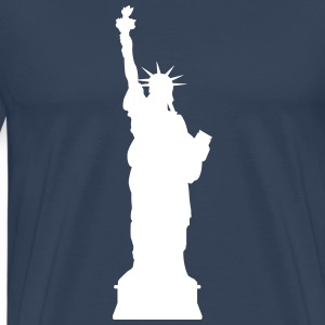 Vrijheidsbeeld New York T-shirts - Mannen Premium T-shirt