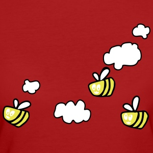 Bee in the Clouds Magliette - T-shirt ecologica da donna