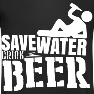 Save water Drink beer Camisetas - Camiseta de pico hombre