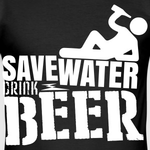 Save water Drink beer Tee shirts - Tee shirt près du corps Homme