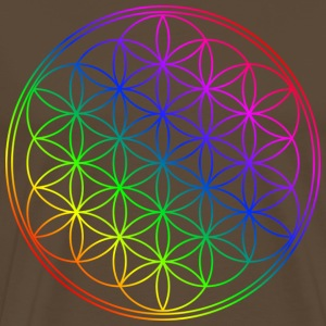 Flower of life rainbow colors T-Shirts - Men's Premium T-Shirt