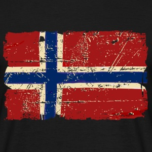 Norway Flag - Vintage Look  Tee shirts - T-shirt Homme