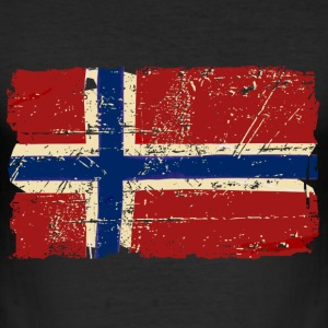 Norway Flag - Vintage Look  T-Shirts - Men's Slim Fit T-Shirt