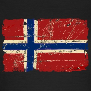 Norway Flag - Vintage Look  T-shirts - Dame-T-shirt