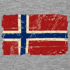 Norway Flag - Vintage Look  Topy - Tank top damski Premium