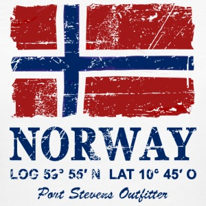 Norway Flag - Vintage Look  T-shirts - Organic damer