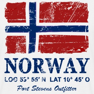 Norway Flag - Vintage Look  T-skjorter - T-skjorte for menn