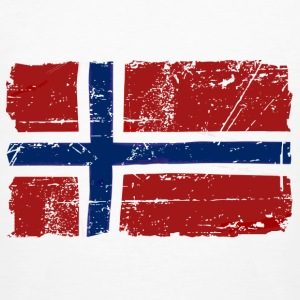 Norway Flag - Vintage Look  Tee shirts - T-shirt bio Homme