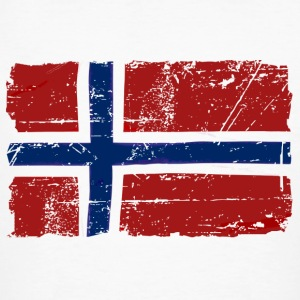 Norway Flag - Vintage Look  Magliette - T-shirt ecologica da uomo