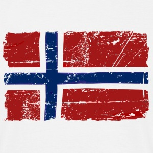 Norway Flag - Vintage Look  T-Shirts - Men's T-Shirt